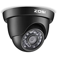 ZOSI 1/3 1000TVL 960H 24PCS IR Leds Security Surveillance CCTV Camera Had IR Cut 3.6mm Lens High Resolution Outdoor Weatherproof Cameras- 65ft (20m) IR Distance