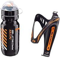 Raceone.it - Kit Fluo Race - 2 PCS - Bidón de Ciclismo + Portabidon para Bicicleta. Bottle XR1 + Bottle Cage X3 /600 CC…