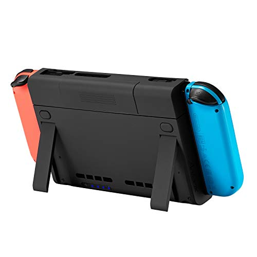 Nintendo Battery - for Nintendo Switch Charge Stand with 6500mAh Battery Case, Antank Portable Battery Case Extended Juice Battery Pack Power Bank with Kick Stand for Nintendo Switch 2017