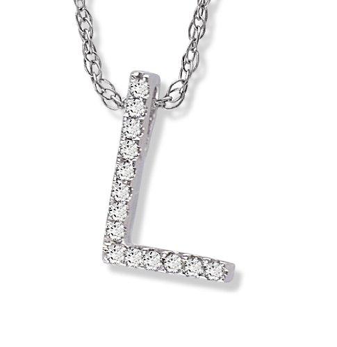 Diamond Initial Pendant L in 1