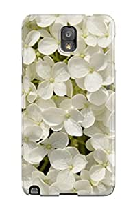 Melissa Fosco's Shop New Style Perfect Fit White Flowers Case For Galaxy - Note 3 2624196K49161206