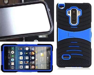 [ NP ARMOR ] BUILT-IN Screen Guard Protector Faceplate Phone Case uBLACK/BLUE For LG G Stylo / LG Stylus / LS770 / H631