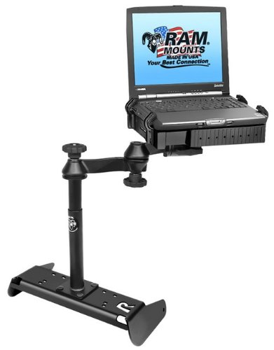 RAM MOUNTS (RAM-VB-191-SW1 No-Drill Laptop Mount for The Chevrolet Silverado 1500 with 40/20/40 Bench Seat Only (2014)