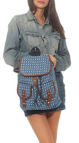 Multifunction Women´s malito Backpack Daypack 2350 Blue Schoolbag R800 many Handbag Pattern tftTaqwp