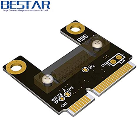 ShineBear mSATA Mini PCIe Half mPCIe to PCIe 1x PCI-E Riser x1 Adapter Card Elbow Design Right Angle Gen3.0 8Gbps for Mining Bitcoin Miner Cable Length: 5cm, Color: R61SL