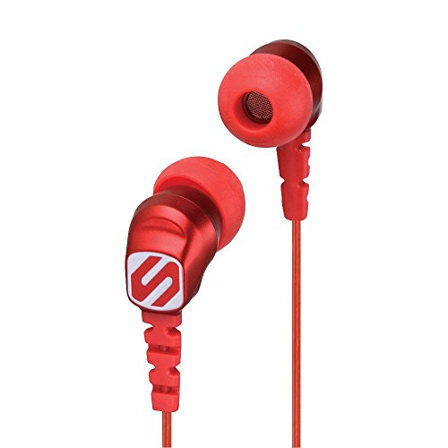 - SCOSCHE HP200R thudBUDS Noise Isolation Earbuds - Retail Packaging - Red