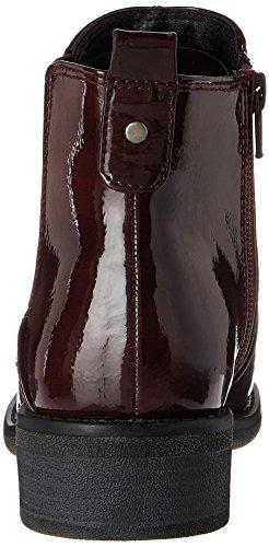 Softline 25365, Bottes Chelsea Femme Rouge (Vino Patent)