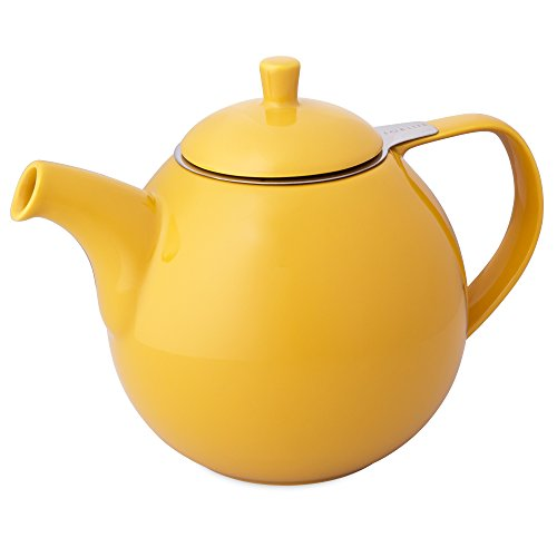 FORLIFE Curve 45-Ounce Teapot with Infuser, Mandarin