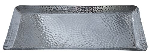 Aluminum Serving Tray Hammered (18x8x1