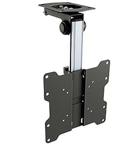RICOO Soporte TV Techo para Monitor D0122 soporte techo monitor giratorio inclinable abatible brazo orientable soporte para inclinación del techo soporte monitor para pantalla plana VESA 75x75 100x100 200x100 200x200 para 17 - 42 pulgada