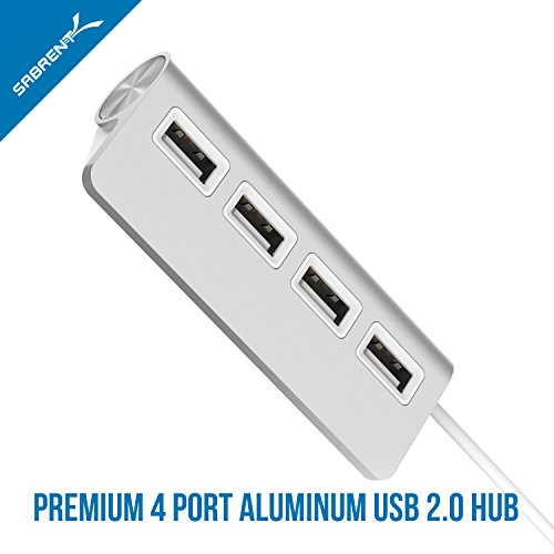 "Sabrent Premium 4 Port Aluminum USB 2.0 Hub (9.5"" cable ..."