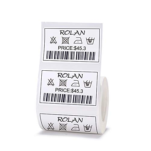 JingChen Multi-Purpose Self-Adhesive Thermal Label Paper for JingChen B11 and B3 Portable Label Printer Roll of 230 Labels 50 x 30 mm (2.0''x1.2'') ()