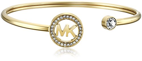 Michael Kors Gold-Tone MK Logo Bangle Bracelet