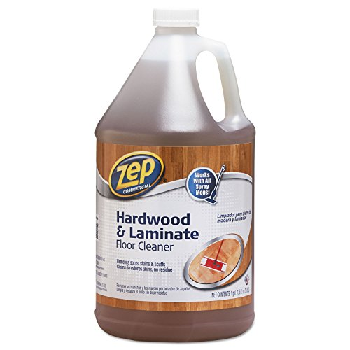 Zep Hardwood Floor Cleaner-Liquid Solution-128 fl oz (4 Quart) -Blue