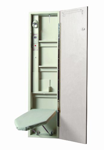Iron-A-Way A4610AU A-46 Ironing Center, White Raised (Center Wall Raised)