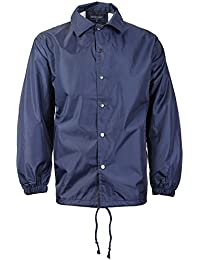 vkwear Men's Lightweight Water Resistant Windbreaker Coach Jacket