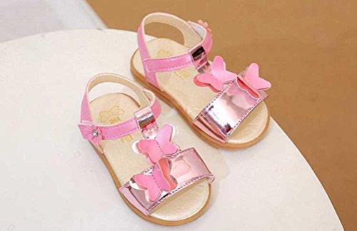 Sandalen für Mädchen - Mode Schmetterling - cinnamou Casual Anti-Rutsch-Sneaker - Niedlich Bowknot Pricness Schuhe - Outdoor Trekkingsandalen Prewalker Schuhe für Kinder Kinder Rosa