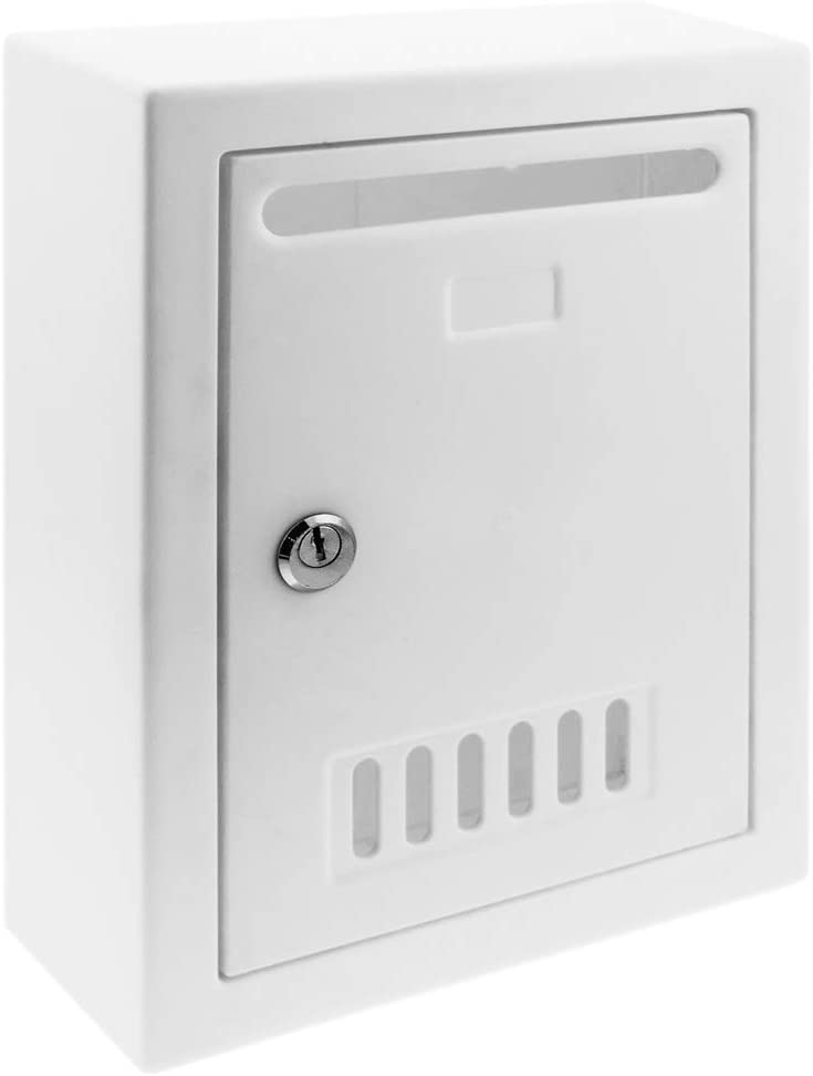 PrimeMatik - Buzón de plástico para Cartas y Correo Postal de Color Blanco 205x80x273mm