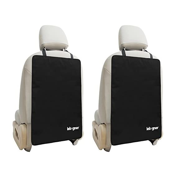 Car Seat Back Protectors By Lebogner - Luxury Kick Mat Seat Covers For The Back Of Your Front Seats 2 Pack, X-Large Auto