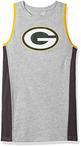 NFL Green Bay Packers Youth 8-20 Fan Gear Tank Top, Medium (10-12), Heather Grey