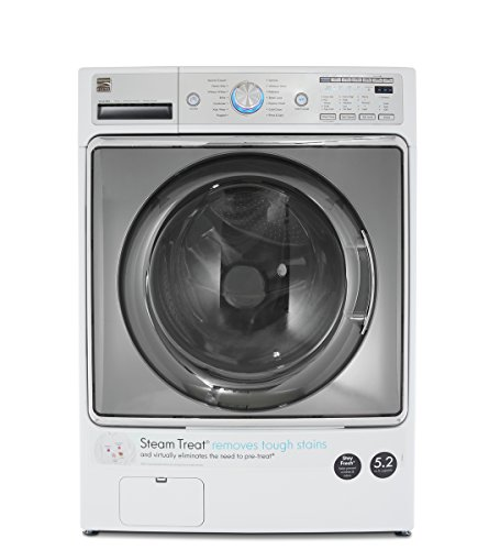 Kenmore Elite 41072 5 2 Cu  Ft  Front Load Washer In White  Includes Delivery And Hookup