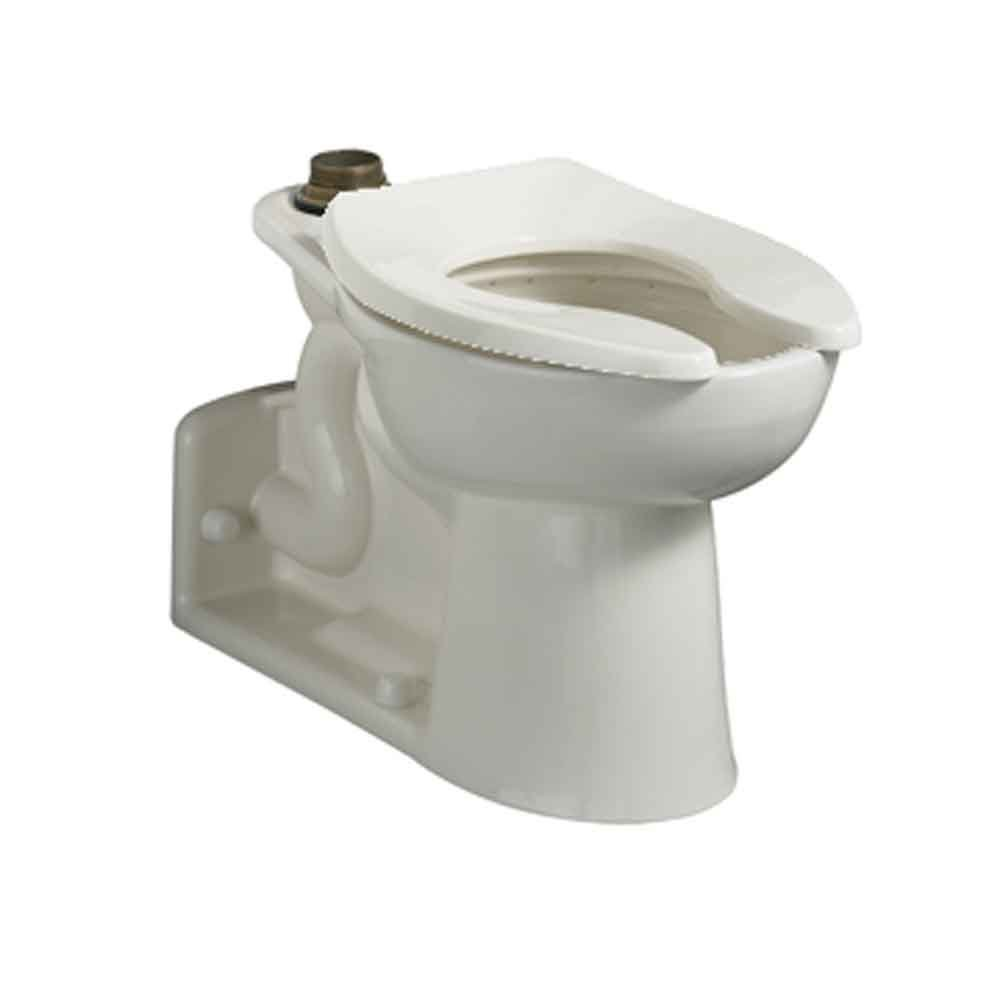 American Standard 3696.001.020 Priolo Right Height Elongated Top Spud Toilet Bowl Only with Slotted Rim, White by American Standard