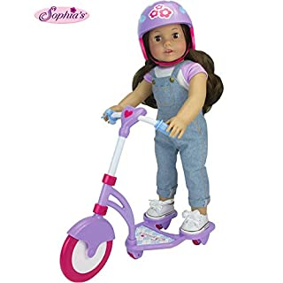 """Sophia's Doll Scooter & Helmet Set Made, 18"""" Dolls Accessories Fit for American Girl Dolls, 2 PC. Doll Helmet & Scooter Set, 18"""" Doll Furniture"""