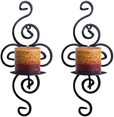 picture of Super Z Outlet Pair of Elegant Swirling Iron Hanging Wall