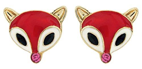 DaisyJewel Red Hot Fox Stud Earrings