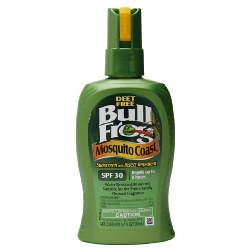 Bull Frog Mosquito Coast, Sunscreen with Insect Repellent, SPF 30 4.7 oz by Bull Frog (Bullfrog Sunscreen Bug Spray)
