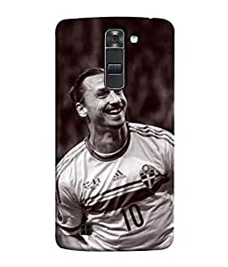 ColorKing Football Ibrahimovic Sweden 03 Multicolor shell case cover for LG K10