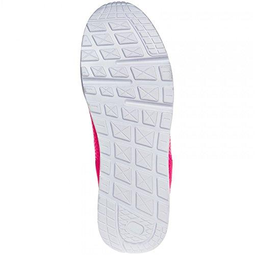 SSN006 Neon Pink Trainers Women CASPAR Z1dqSqnx