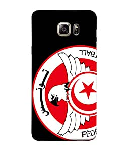 ColorKing Football Tunisia 07 Black shell case cover for Samsung S6