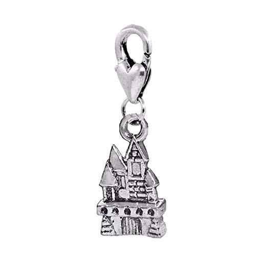 Castle Estate Haunted Mansion Halloween Lobster Clip Dangle Charm for Bracelets Crafting Key Chain Bracelet Necklace Jewelry Accessories Pendants