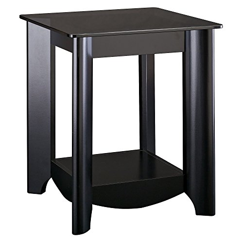 Bush Furniture Aero End Tables in Classic Black