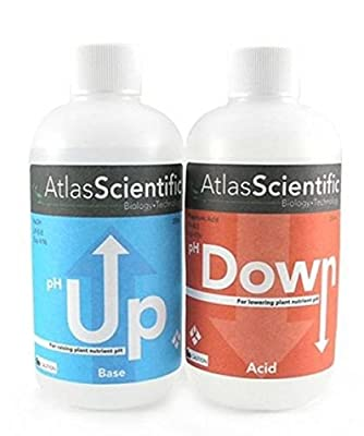 1 Set Peerless Popular AS Hydroponic pH Control Atlas Test Kit General Water Adjustment Accurate Up and Down Volume 8 oz Each