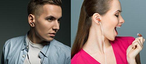 [해외]마이크, 화이트가 장착 된 Nrg 프리미엄 우드 헤드폰 분리형 헤드폰의 교신/Symphonized Nrg Premium Wood Noise-Isolating Headphones with Mic, White