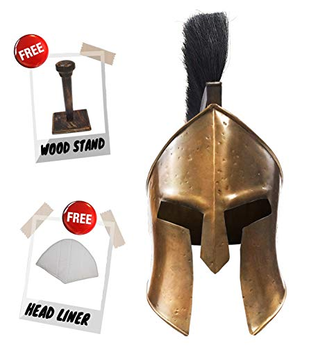 (Historical Memories Medieval 300 Spartan Leonidas Movie Replica Helmet Armor Knight Adult Costume Functional Antique)