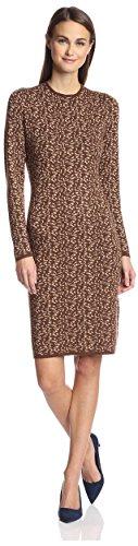 SOCIETY NEW YORK Women's Leopard Jacquard Dress, Brown/Ta...