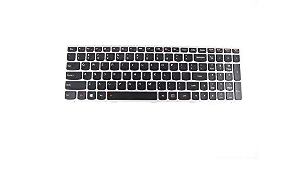 Black with Clear Saco Keyboard Protector Silicone Skin Cover for Lenovo G50-45 80E301UFIN 15.6 inch Laptop