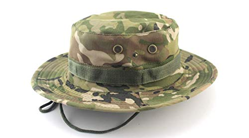 ef0d49a0780cca Bucket Hat Boonie Hunting Fishing Outdoor Cap - Wide Brim Military Boonie  Hat desert