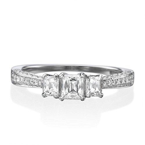 0.44 Ct Emerald Cut Diamond - 2