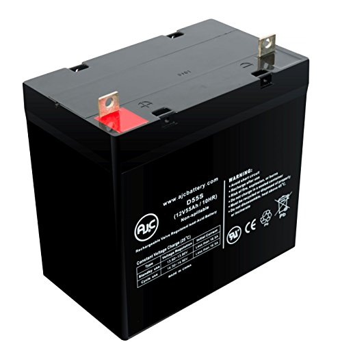 WKA12-55C 12V 55Ah Wheelchair Battery - This is an AJC Brand Replacement by AJC Battery