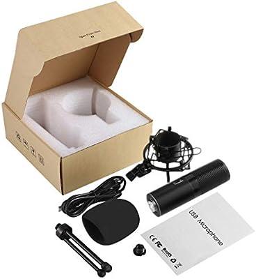 Micrófono Profesional de Condensador Ordenador PC USB del ...