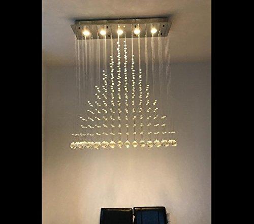 Ella Fashion® Flush Mount Modern Crystal Rain Drop Chandelier ...