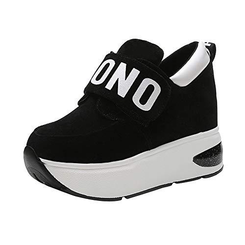Baskets Lacets À Sneakers Pour Noir Chaussures Creepers Compensées Femmes Gothique Casual Semelles Punk Subfamily Sport Plate De Forme aw5x1qx7P