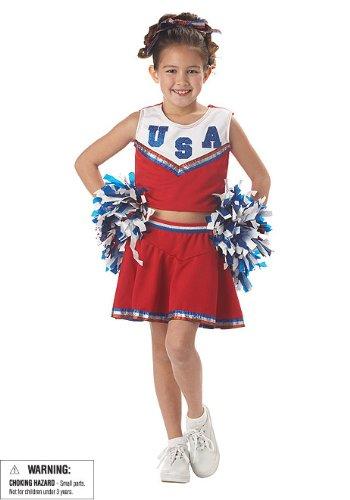 Patriotic Cheerleader Costume - Large