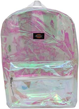 Dickies Clear Student Backpack Champagne Iridescent White