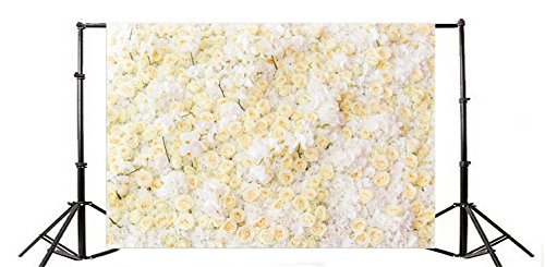 Yeele 8x6ft Rose Orchid Floral Bunch Backdrop Romantic Wedding Flowers Blooming Fragrant Bouquet Petals Photography Background Bridal Girl Lady Artistic Portraits Photo Shooting Video Studio Props