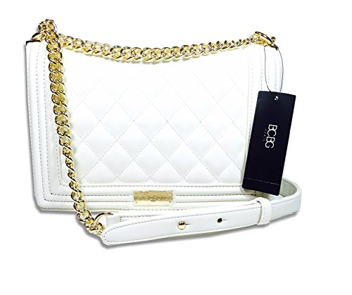 Bcbg Matte Quilted Chain Shoulder Bag Whisper White B-0115